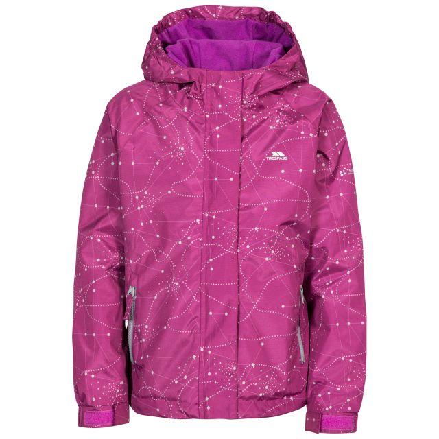 Vilma Kids' Printed Waterproof Jacket in Purple