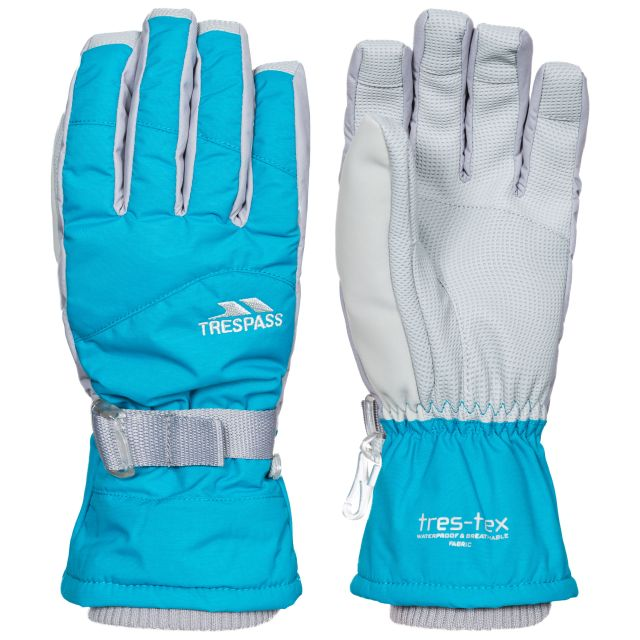 Vizza II Kids' Waterproof Ski Gloves in Blue