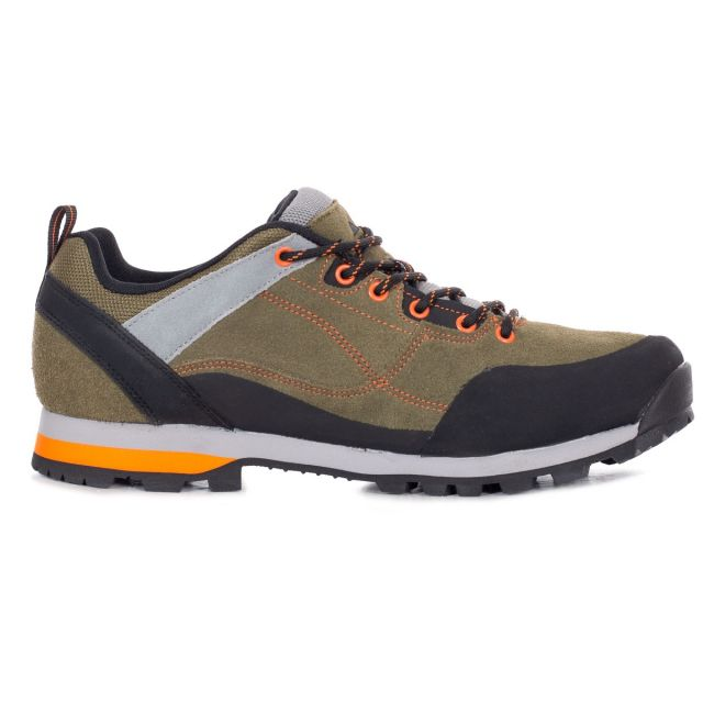 Vorce Men's Waterproof Walking Shoes in Khaki, Sole view of footwear