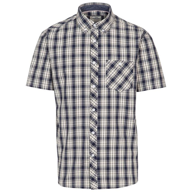 Wackerton Mens Check Shirt in Navy