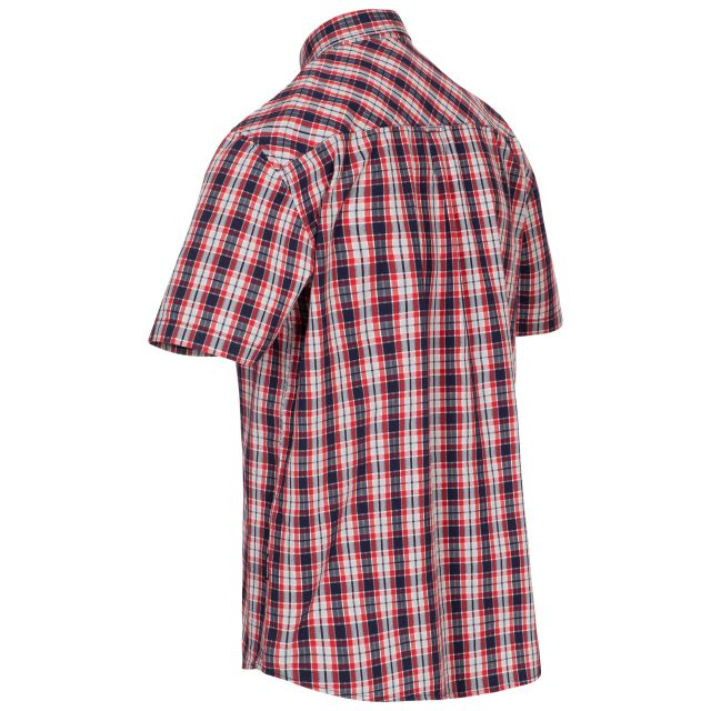 Wackerton Mens Check Shirt in Red