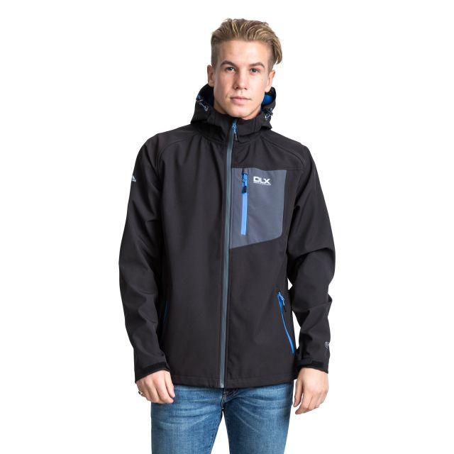 Wallis Men's DLX Hooded Softshell Jacket in Black