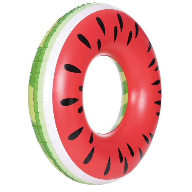 Inflatable Watermelon Novelty Swim Ring in Red