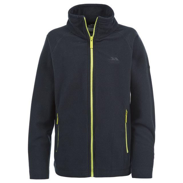 Wayne Kids' Full Zip Microfleece Jacket  in Black