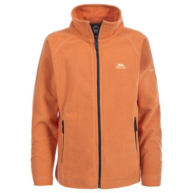 Wayne Kids' Full Zip Microfleece Jacket  in Orange