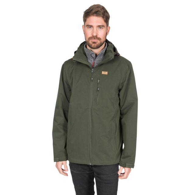 Weir Men's Waterproof Jacket in Khaki