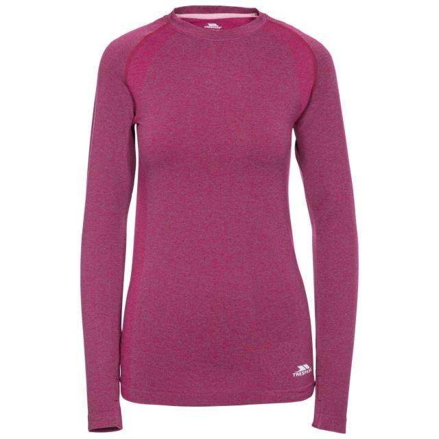 Welina Women's Long Sleeve Active T-Shirt in Purple