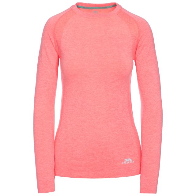 Welina Women's Long Sleeve Active T-Shirt in Peach