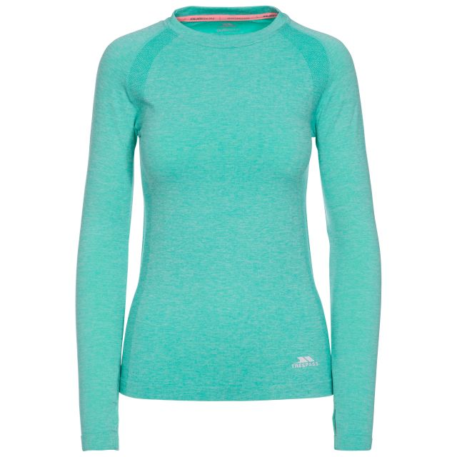 Welina Women's Long Sleeve Active T-Shirt in Light Blue
