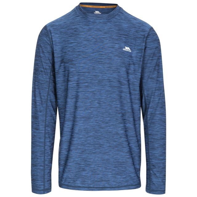Wentworth Men's Long Sleeve Active T-Shirt in Navy