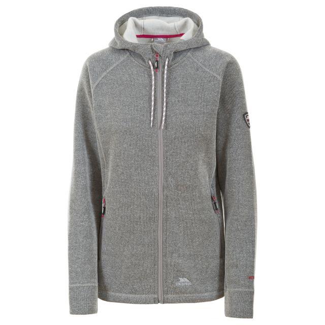 Whirlwind Womens Full Zip Fleece Hooded Jacket in Light Grey