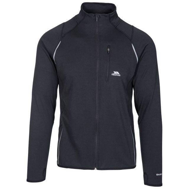 Whiten Men's Quick Dry Active Jacket in Black, Front view on mannequin