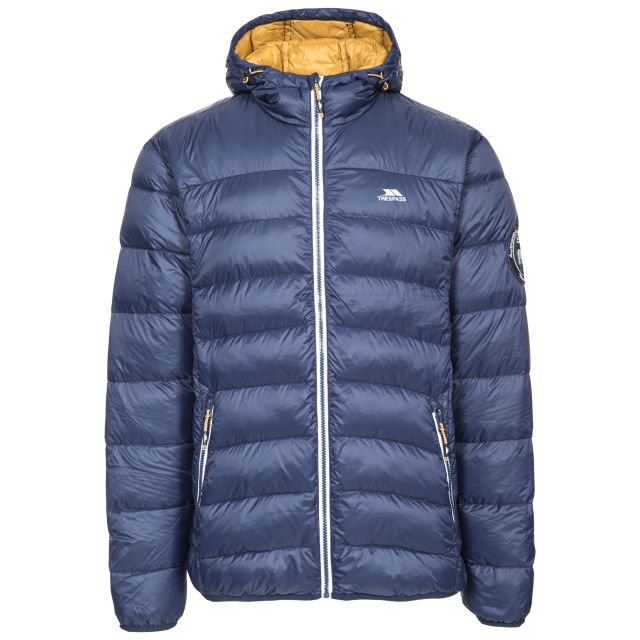 Whitman Men's Down Packaway Jacket in Navy