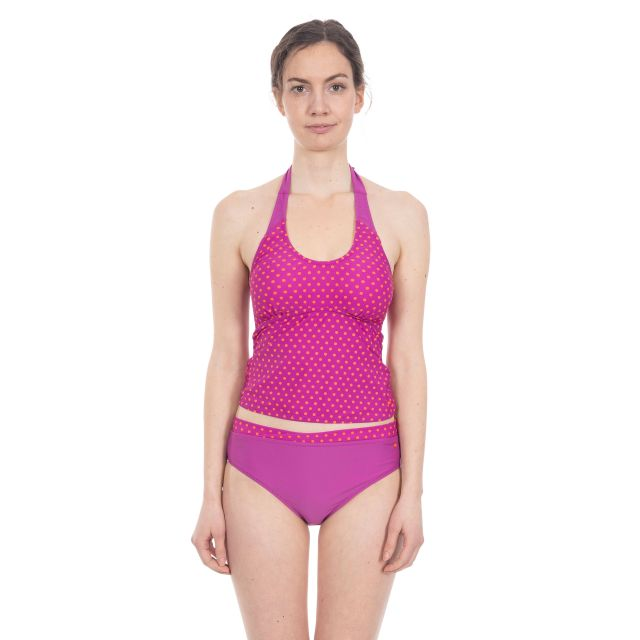 Winona Women's Halterneck Tankini Top in Purple