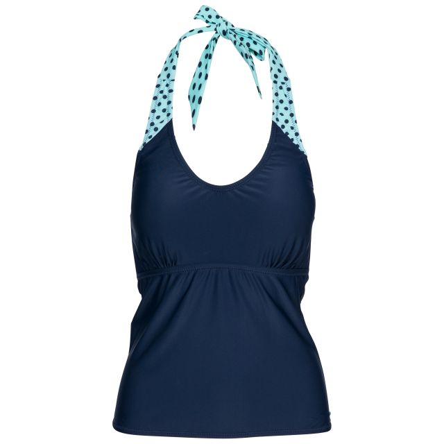 Winona Women's Halterneck Tankini Top in Navy