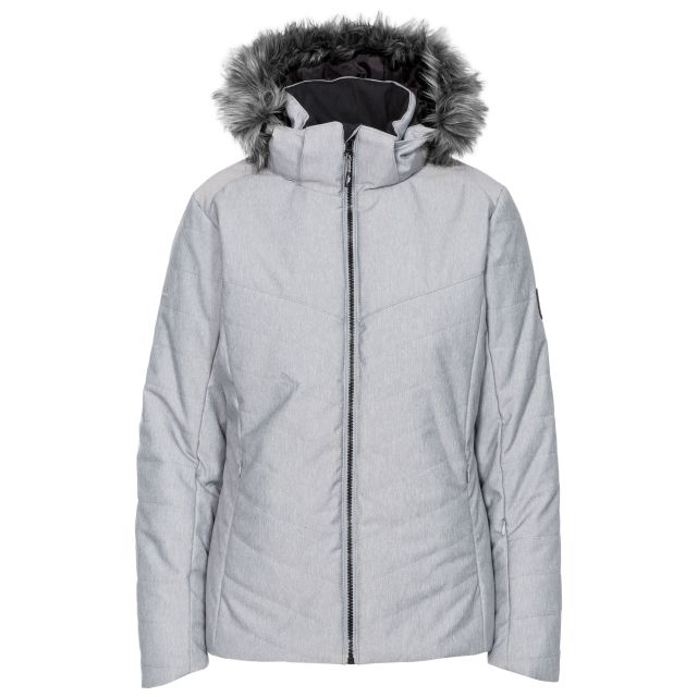 Wisdom Women's Waterproof Ski Jacket in Light Grey
