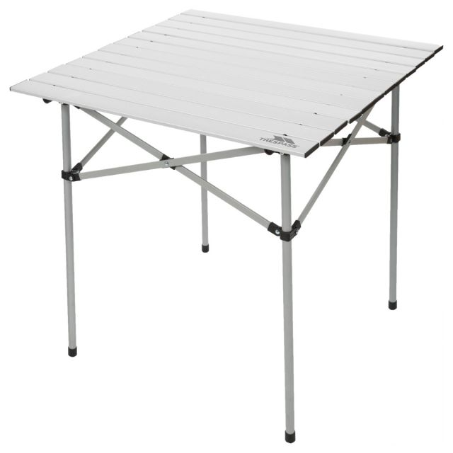Folding Garden & Camping Table in Light Grey