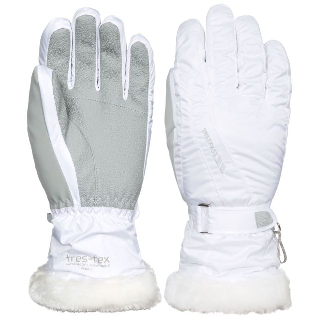 Yani Unisex Ski Gloves in White