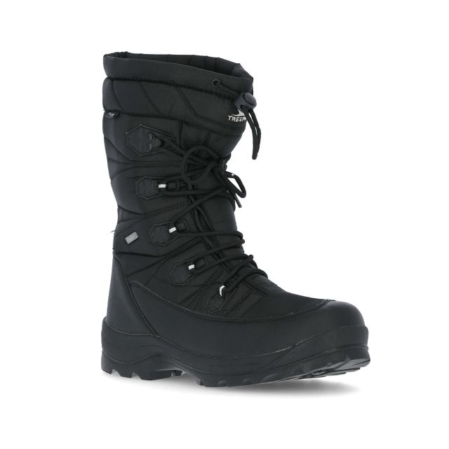 Yetti Men's Lace Up Snow Boots in Black