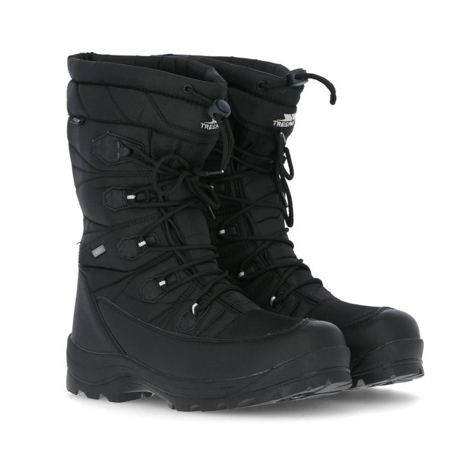 Yetti Men's Lace Up Snow Boots - BLK