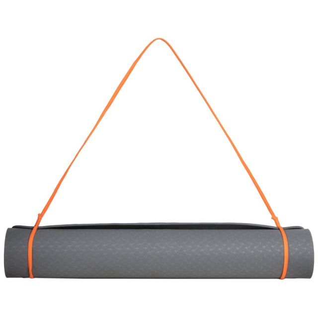 Yoga Mat and Carry Strap in Grey