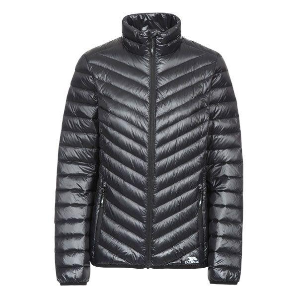 Yolanda Women's Down Packaway Jacket in Black