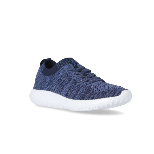 Zander Men's Memory Foam Trainers in Navy