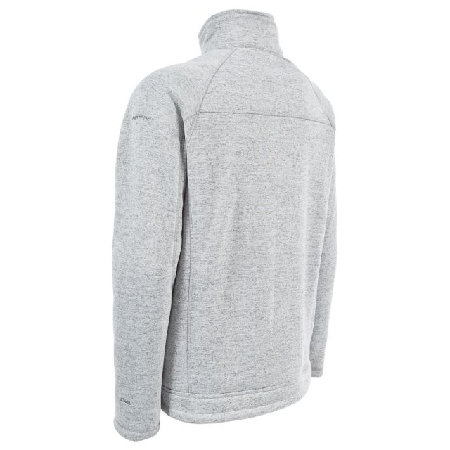 Zayne Men's Full Zip Fleece Jacket in Grey