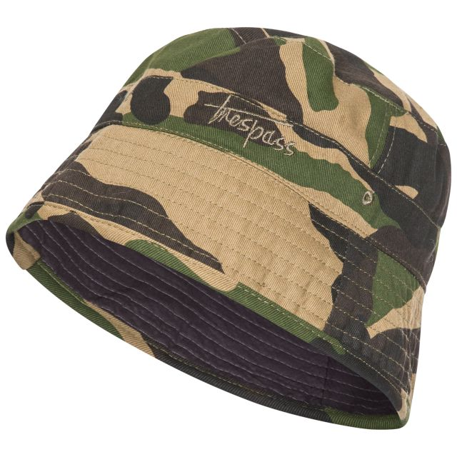Zebedee Kids' Bucket Hat in Khaki