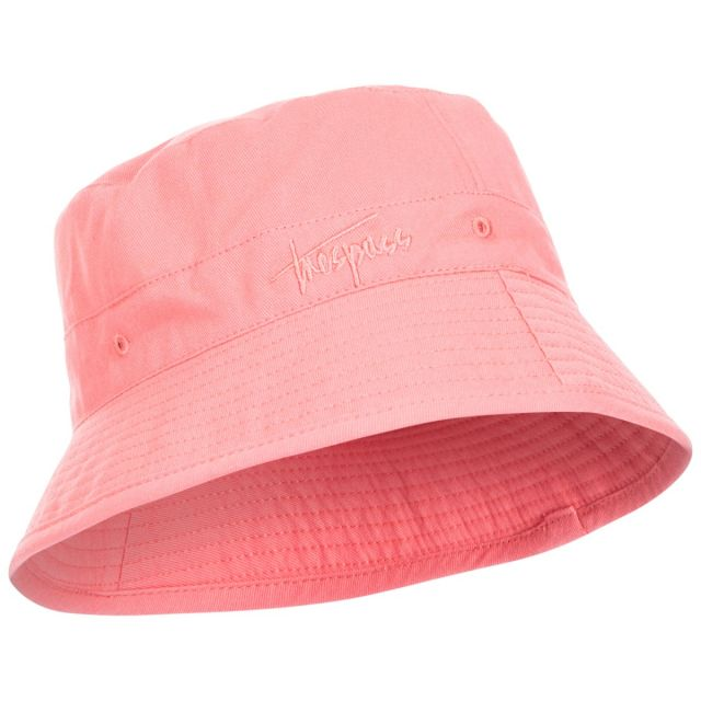 Zebedee Kids' Bucket Hat in Pink, Hat at angled view