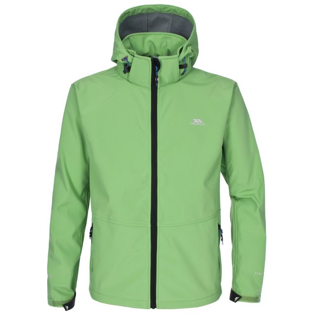 Zigadenus mens softshell jacket in Green
