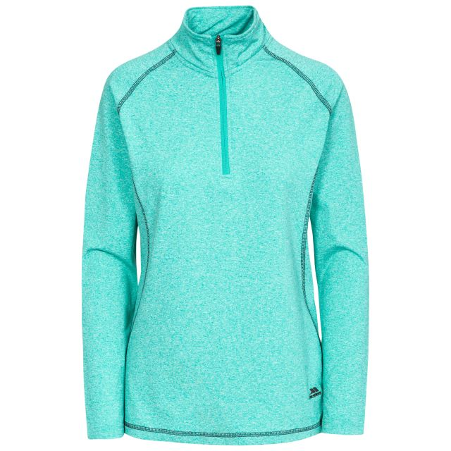 Zirma Women's 1/2 Zip Long Sleeve Active Top in Blue