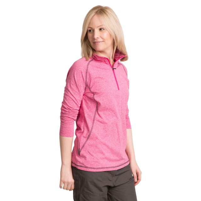 Zirma Women's 1/2 Zip Long Sleeve Active Top - PAD