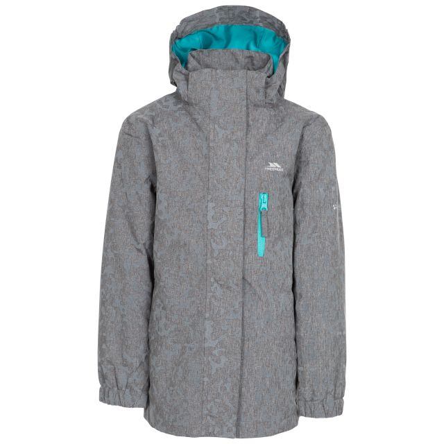 Zoey Kids' Reflective Waterproof Jacket in Grey