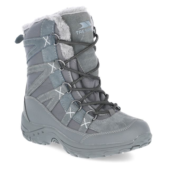 Zofia Women's Insulated Waterproof Snow Boots in Grey