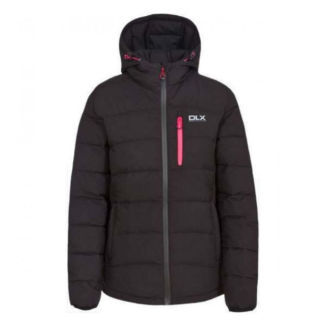 Zuri Women's DLX Hooded Down Jacket  in Black