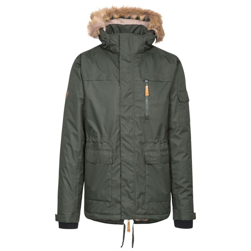 Details about Trespass Mens Parka Jacket Winter Waterproof Coat with Fleece & Hood