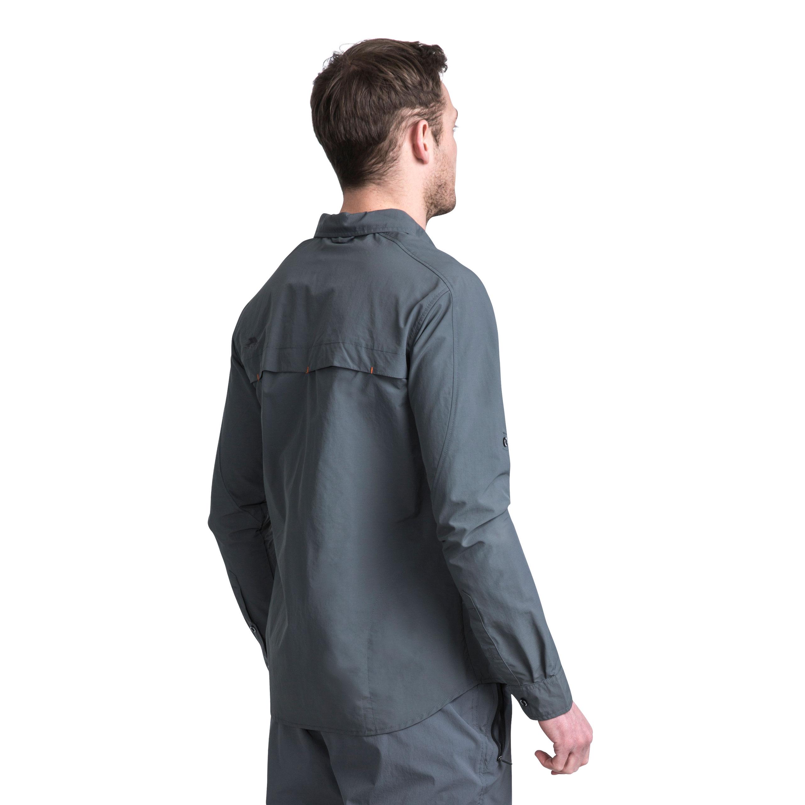Trespass-Darnet-Camisa-Para-Hombre-Repelente-de-Mosquitos-Pesca-Camping-Jersey-de-manga-larga miniatura 16