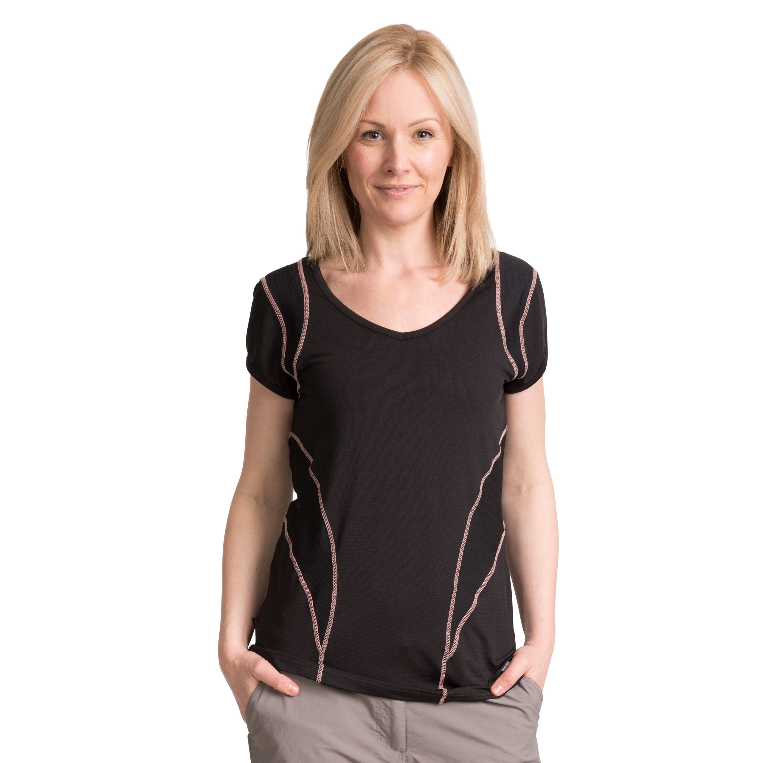 Erlin Womens V-neck Active T-shirt