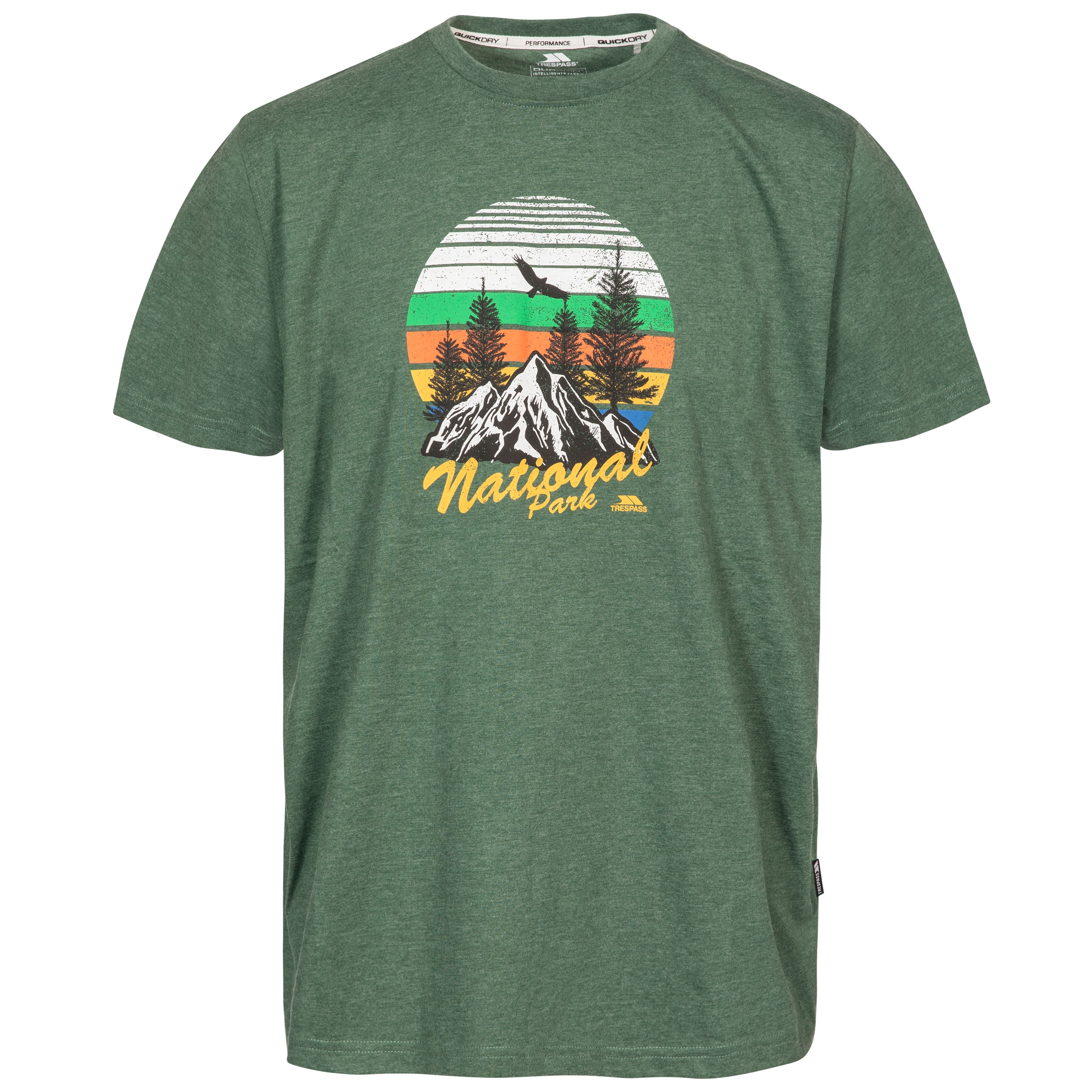 Trespass Estate Mens Short Sleeve T-Shirt from Wicking Quick Dry Fabric