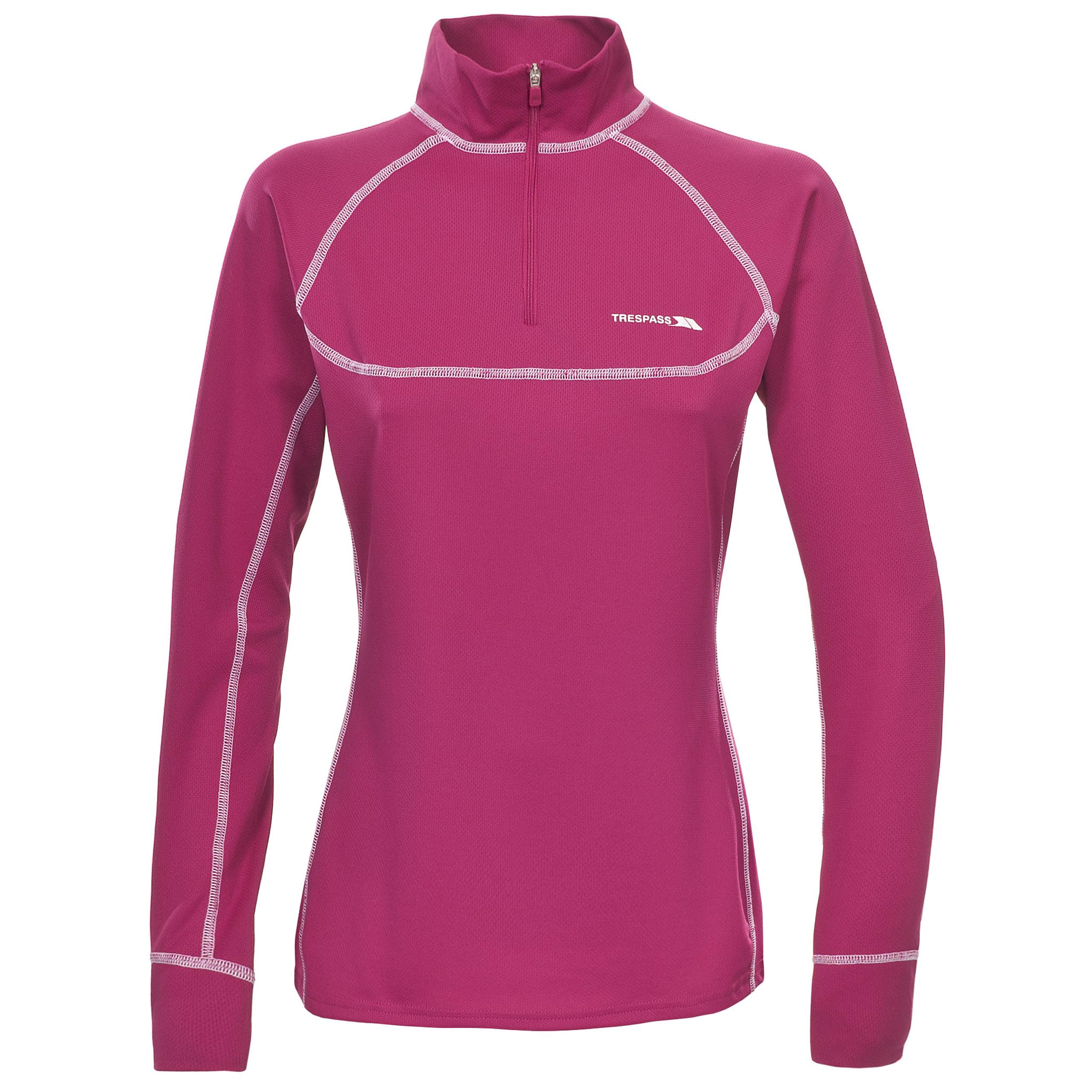 Trespass half zip neck zippit womens base layer top ebay for Womens base layer shirt