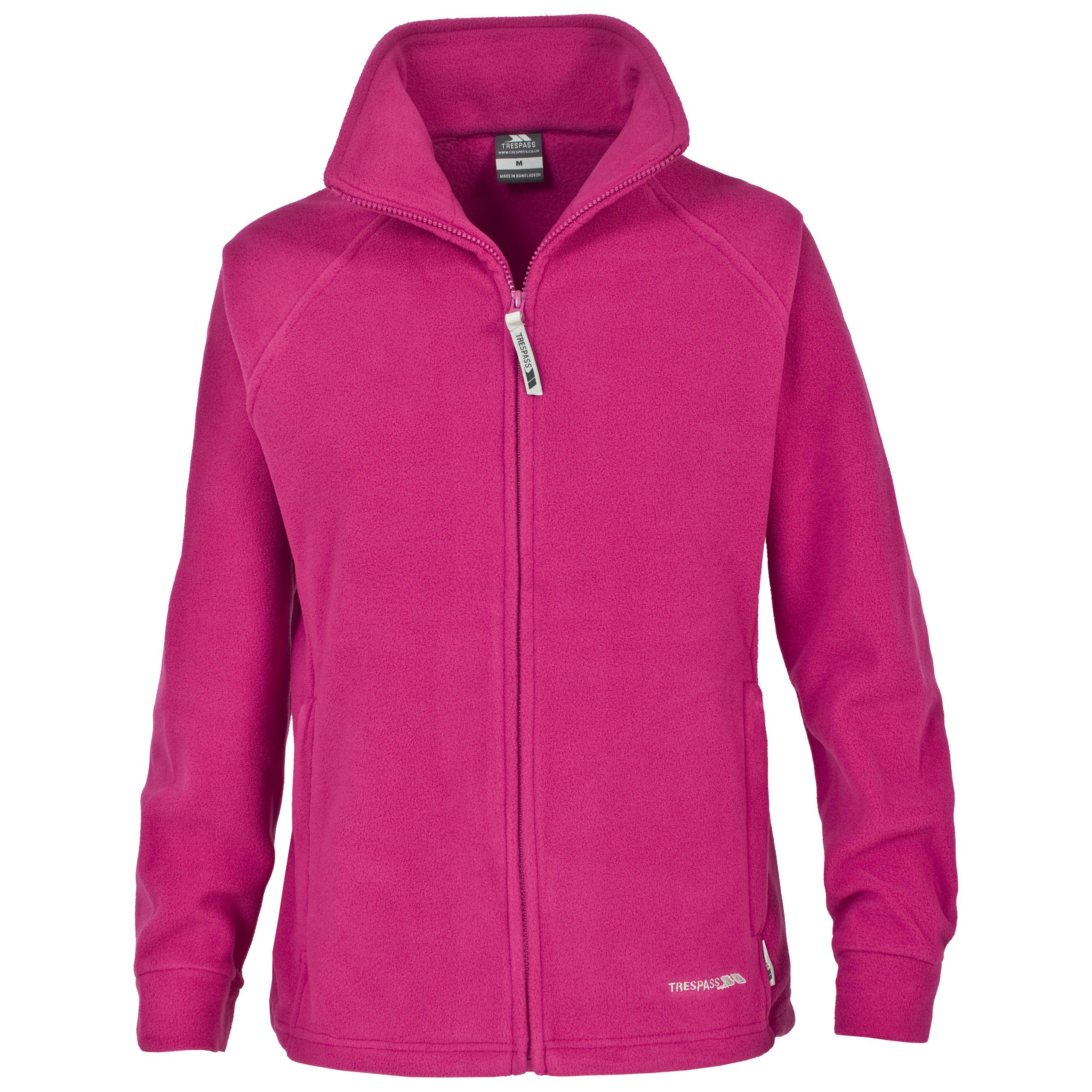Trespass Angara Womens Full Zip Fleece Coat Ladies Lightweight ...