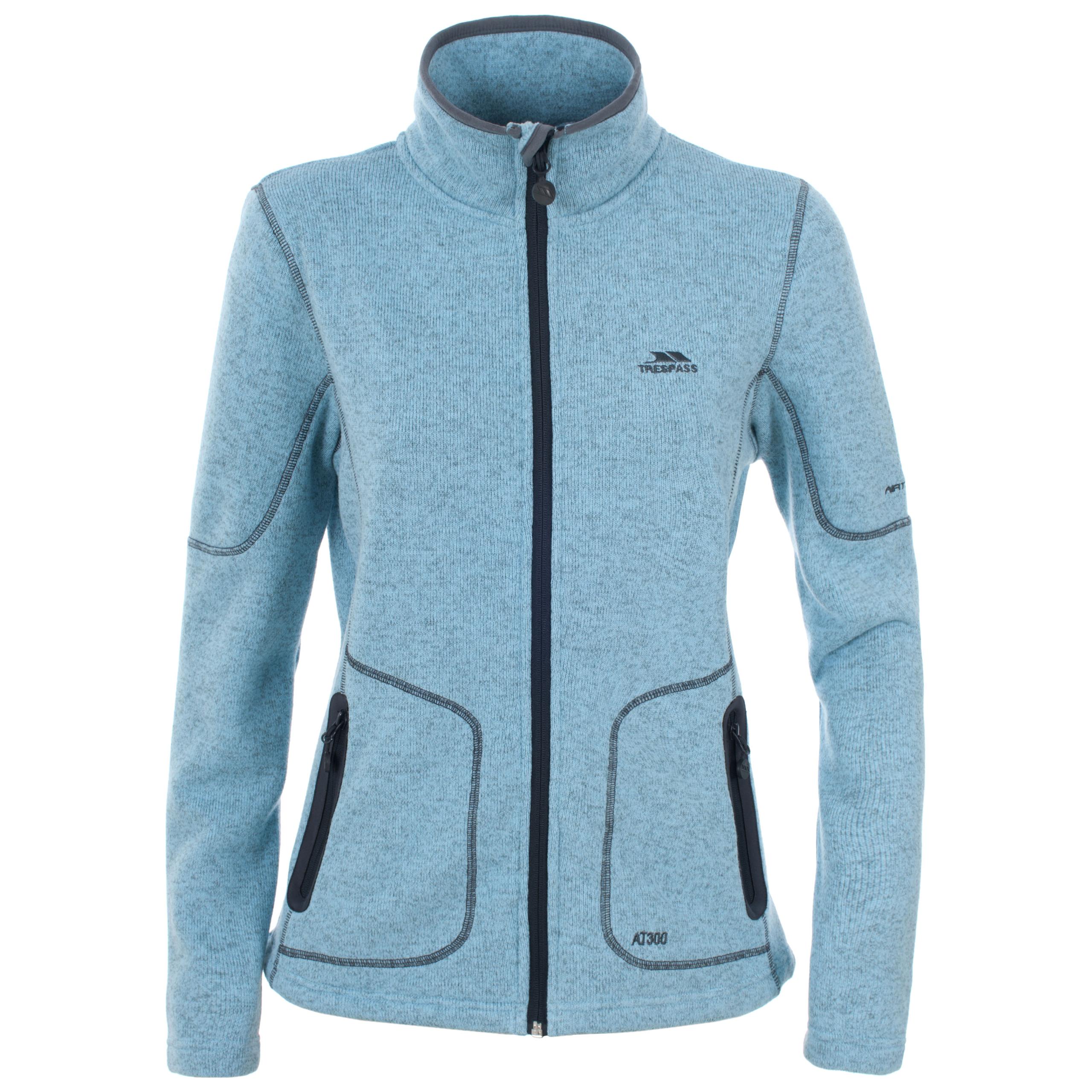 Trespass Cardigan Womens Full Zip Fleece Jacket Lightweight Warm ...