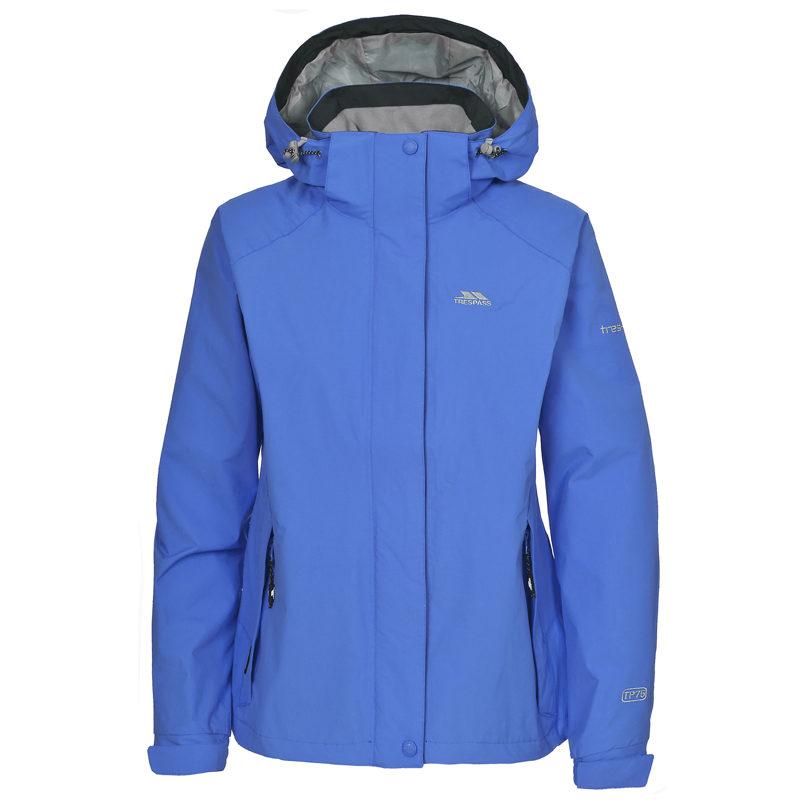 Trespass-Florissant-Womens-Waterproof-Jacket-Black-Navy-Rain-Coat-with-Hood
