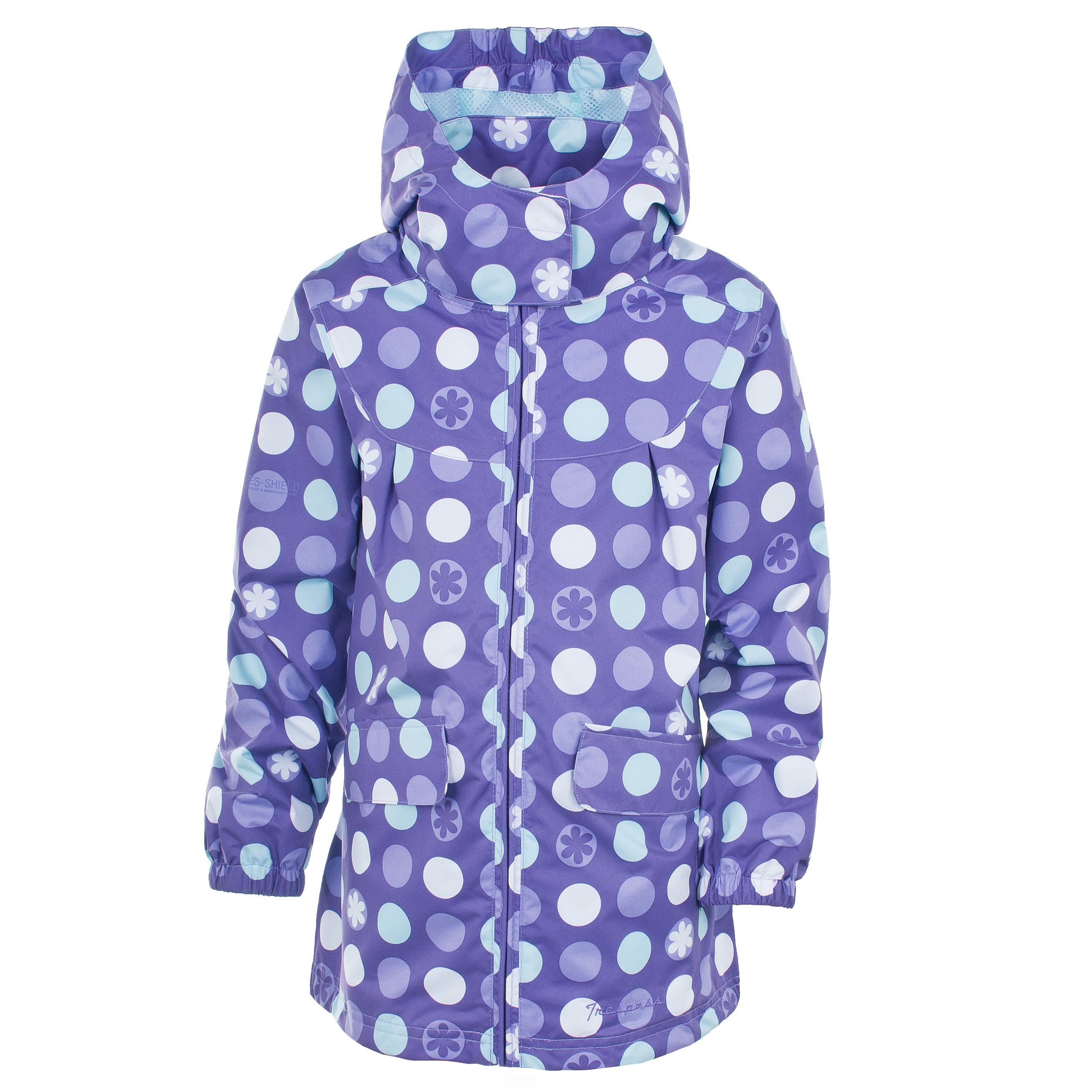 Trespass JELLYBABE Girls Windproof School Rain Coat Waterproof