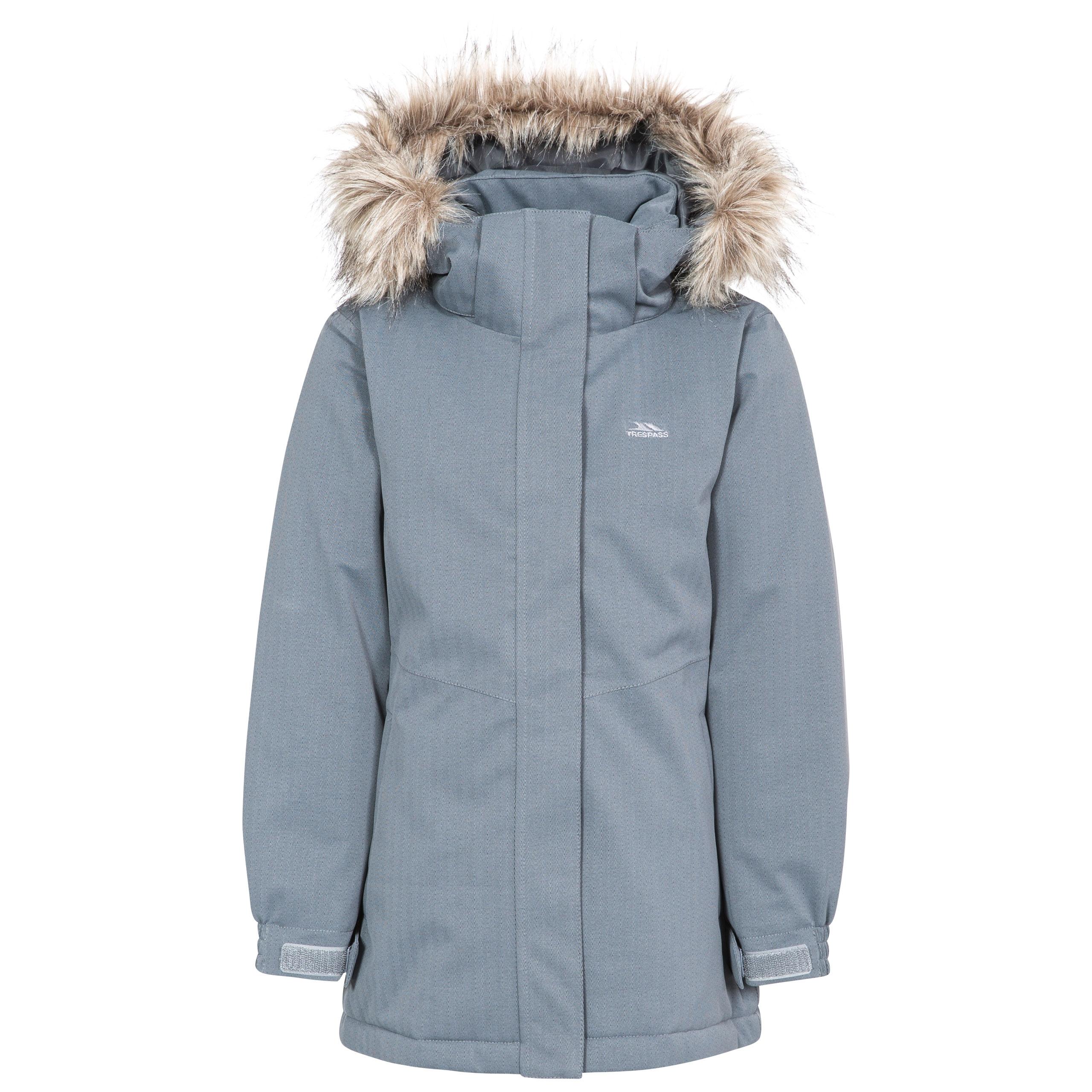 fa5cd82a6 Gardenia Girls' Windproof Insulated Waterproof Parka Jacket   Trespass UK