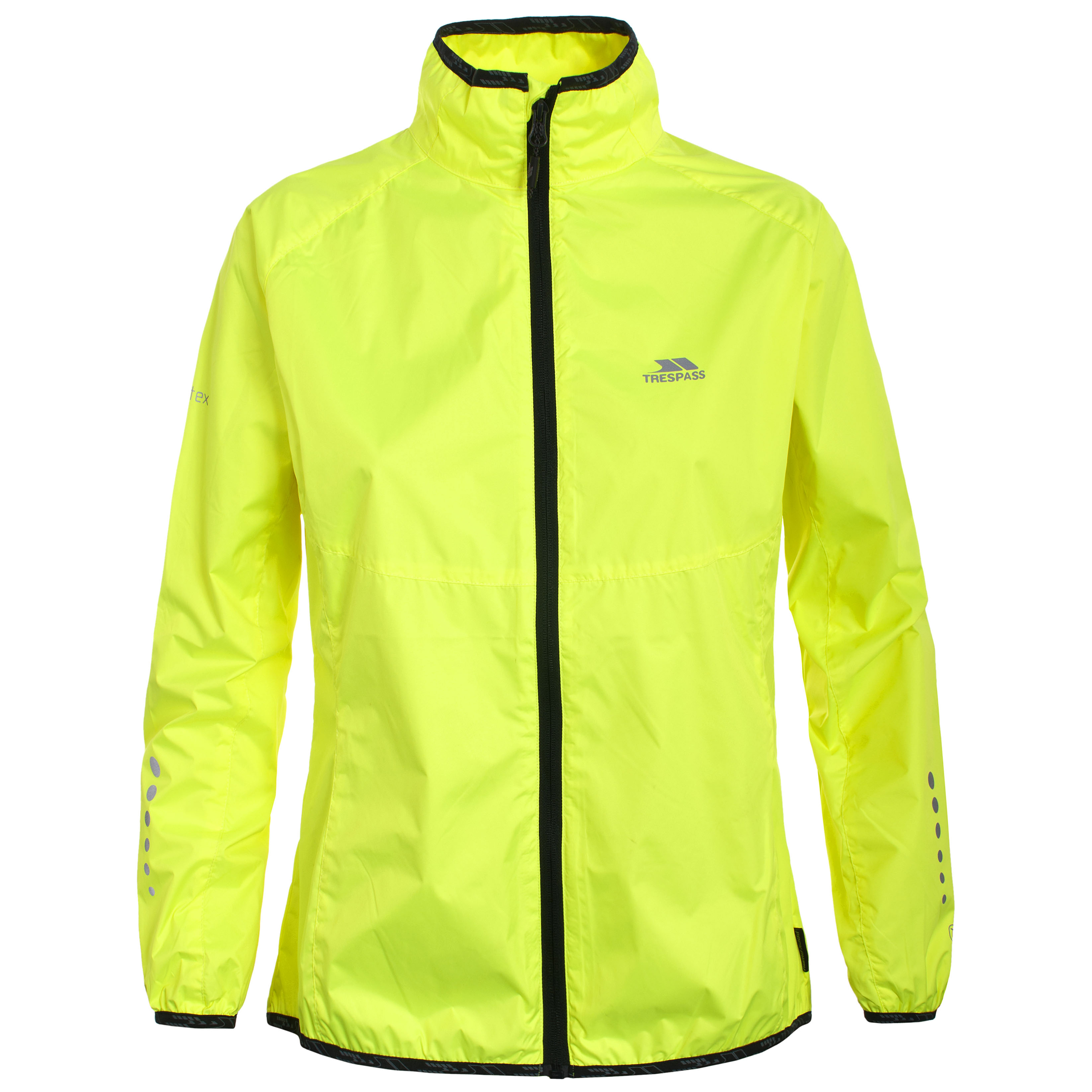 Trespass hybrid womens ladies hi viz cycling coat for Hi viz running shirt