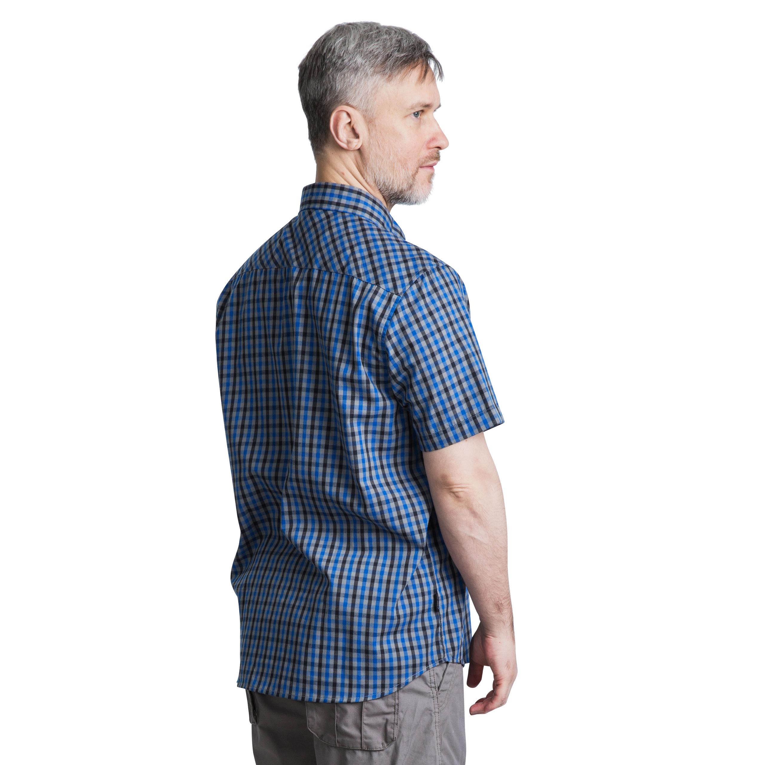 Trespass-Juba-Mens-Short-Sleeved-Checked-Shirt-Casual-Summer-Top thumbnail 14