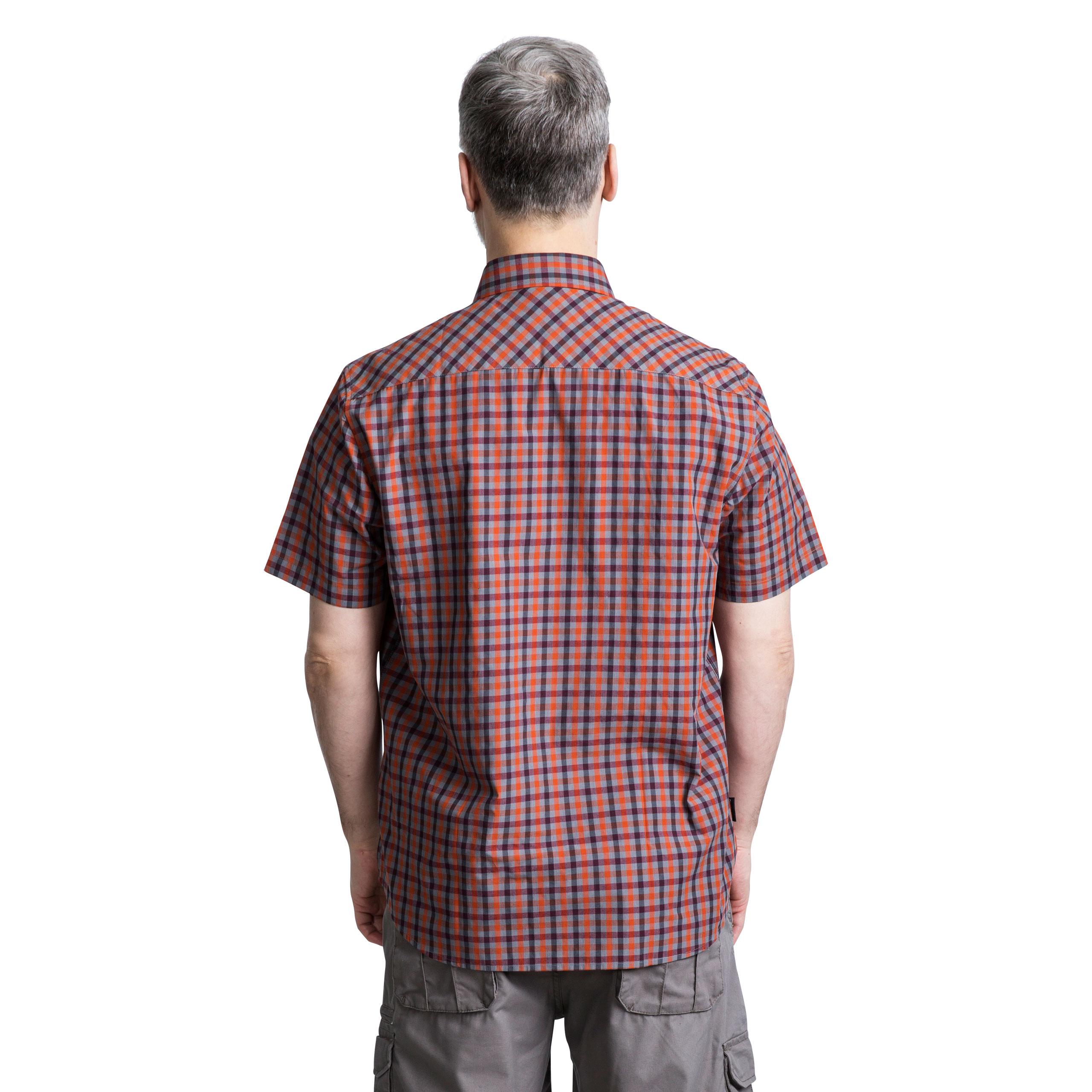 Trespass-Juba-Mens-Short-Sleeved-Checked-Shirt-Casual-Summer-Top thumbnail 16