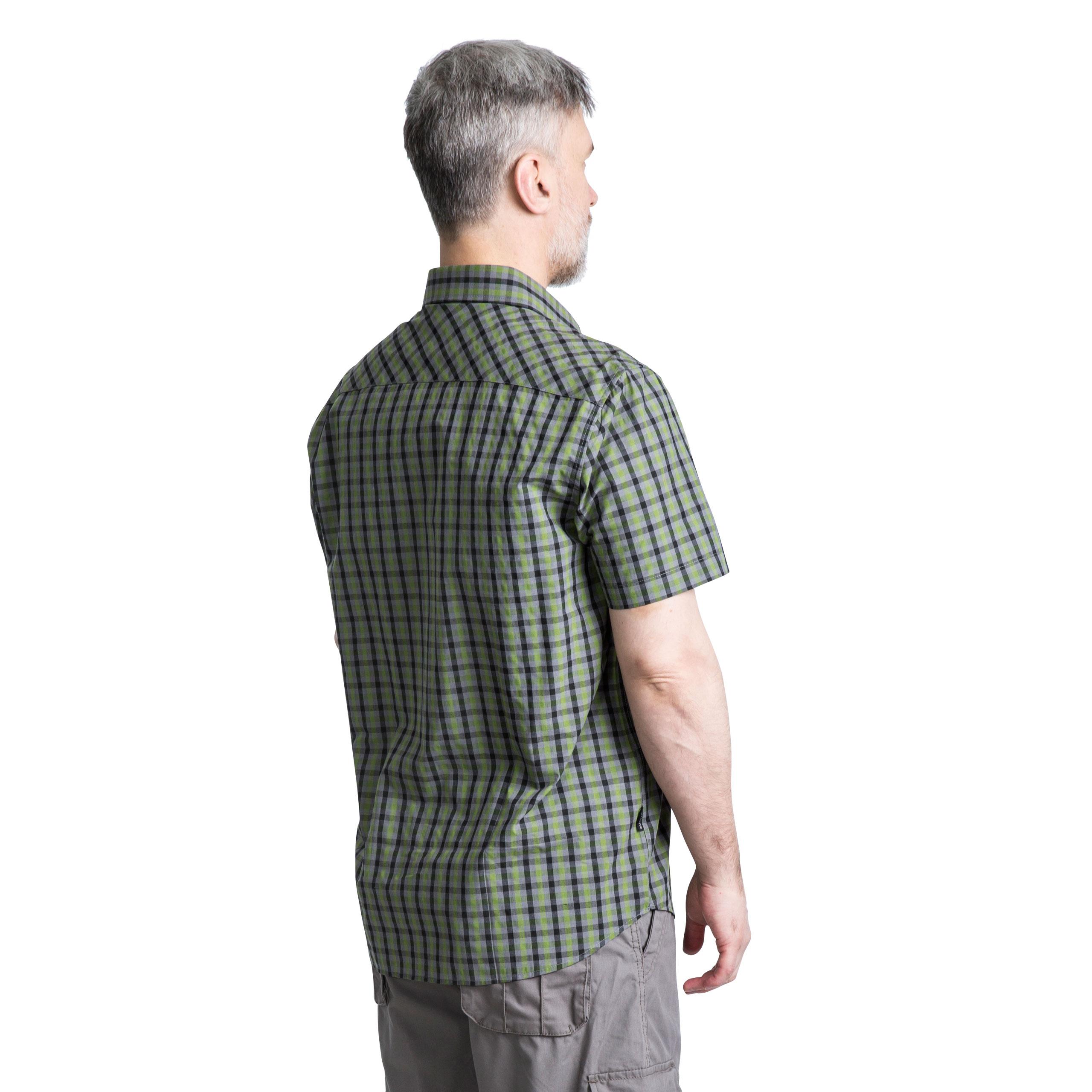 Trespass-Juba-Mens-Short-Sleeved-Checked-Shirt-Casual-Summer-Top thumbnail 18
